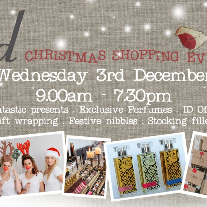 Christmas Shopping Event - Wednesday 3rd December