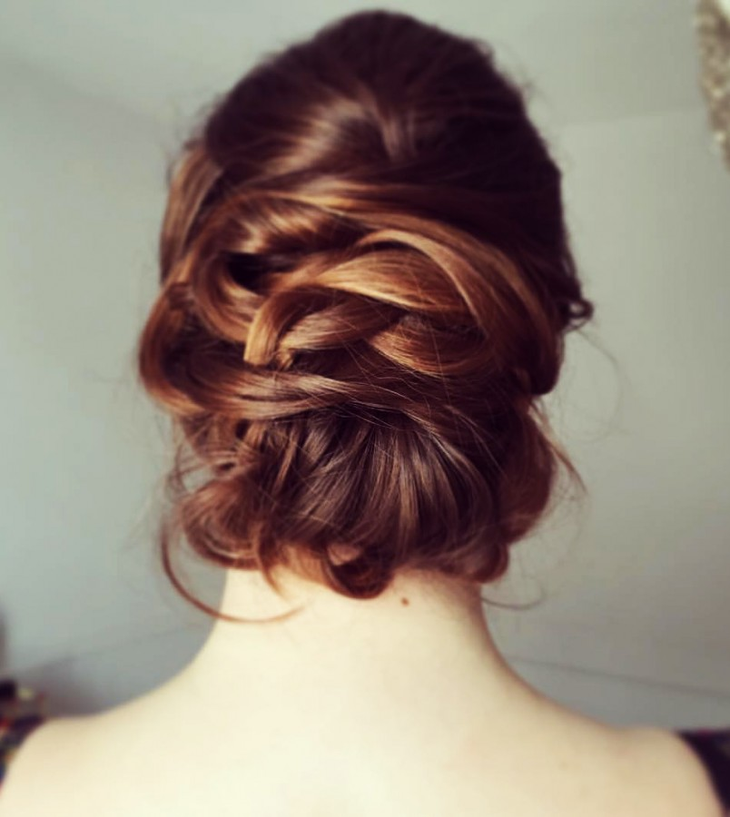 Bridal Hair intricate up do