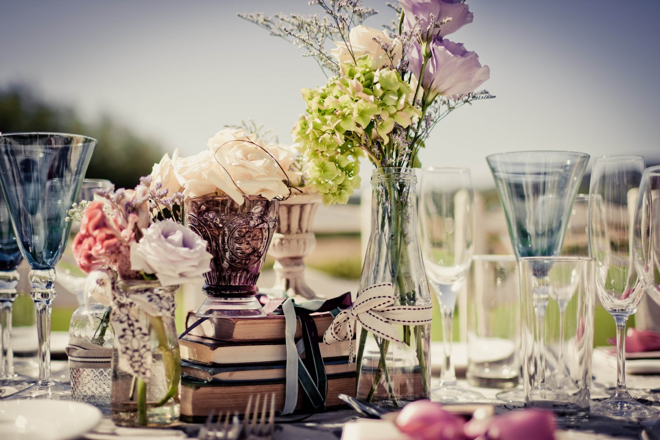 Minta and Magnolia Table setting