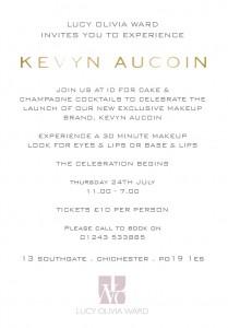kevyn Aucoin Invite 2