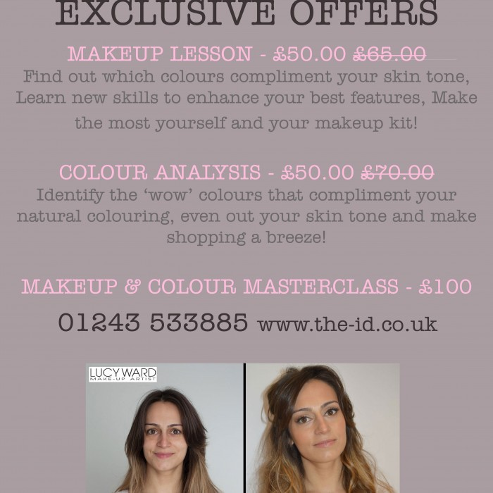 Makeup Lesson & Colour Analysis Offers at ID Makeup, Hair & Beauty Lounge Chichester