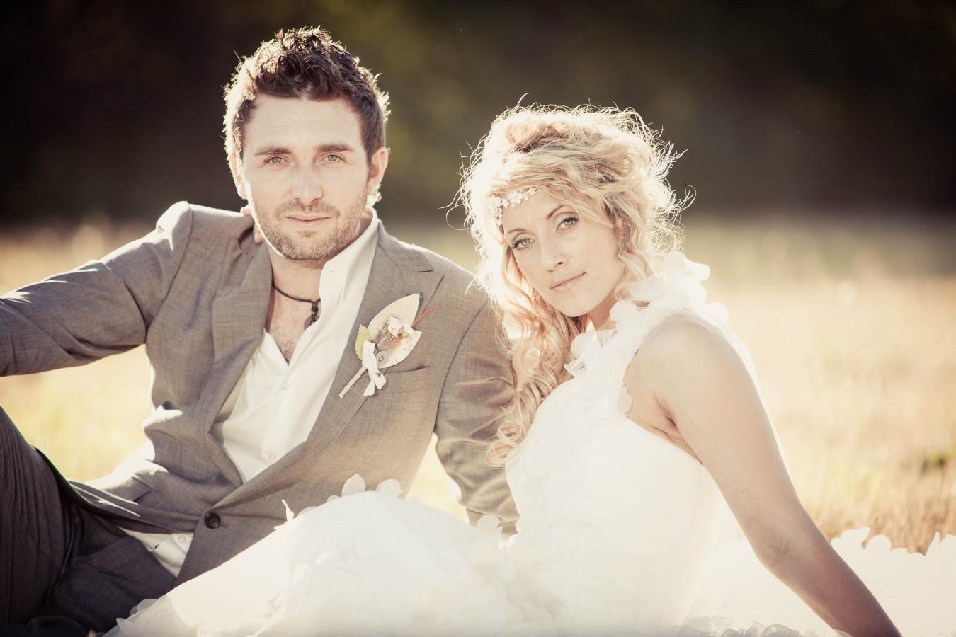 Bohemian Bridal hair and makeup