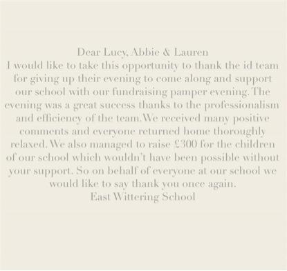 Dear Lucy, Abbie and Lauren